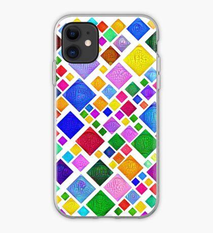 #DeepDream Color Squares Visual Areas 5x5K v1448787318 Transparent background iPhone Case