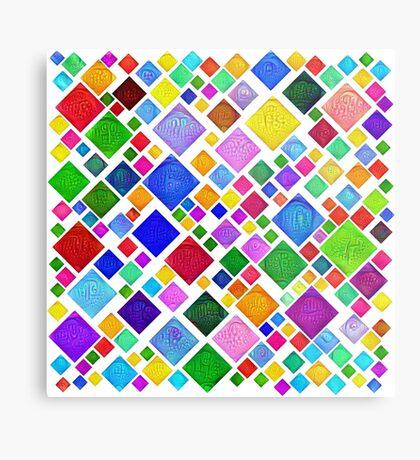 #DeepDream Color Squares Visual Areas 5x5K v1448787318 Transparent background Metal Print