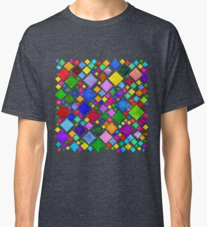 #DeepDream Color Squares Visual Areas 5x5K v1448787318 Transparent background Classic T-Shirt