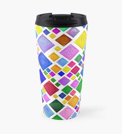 #DeepDream Color Squares Visual Areas 5x5K v1448787318 Transparent background Travel Mug