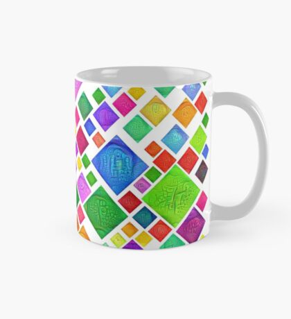 #DeepDream Color Squares Visual Areas 5x5K v1448787318 Transparent background Mug