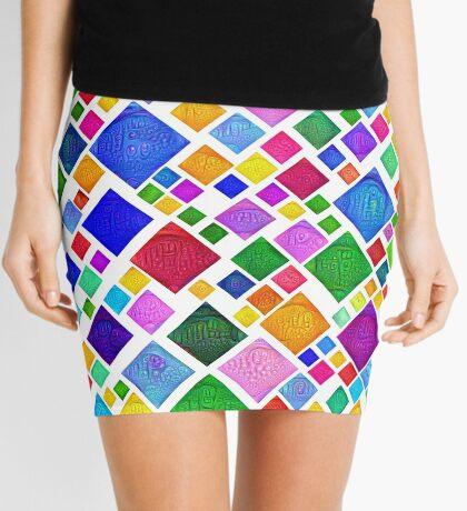 #DeepDream Color Squares Visual Areas 5x5K v1448787318 Transparent background Mini Skirt