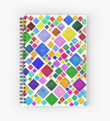 #DeepDream Color Squares Visual Areas 5x5K v1448787318 Transparent background Spiral Notebook