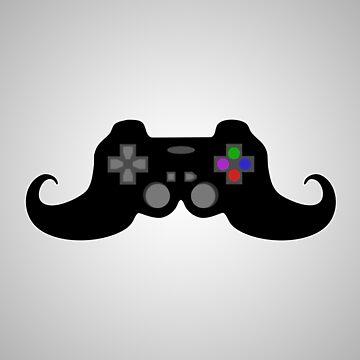Gamer Moustache by JDBee