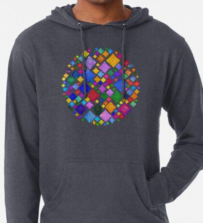 #DeepDream Color Squares Square Visual Areas 5x5K v1448810610 Transparent background Lightweight Hoodie