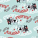 French Kiss {Pattern} by offleashart