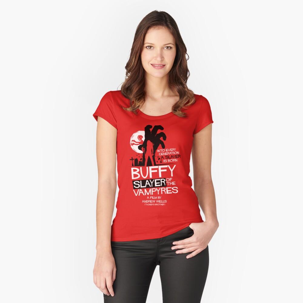 Asesino de los Vampiros Camiseta entallada de cuello ancho