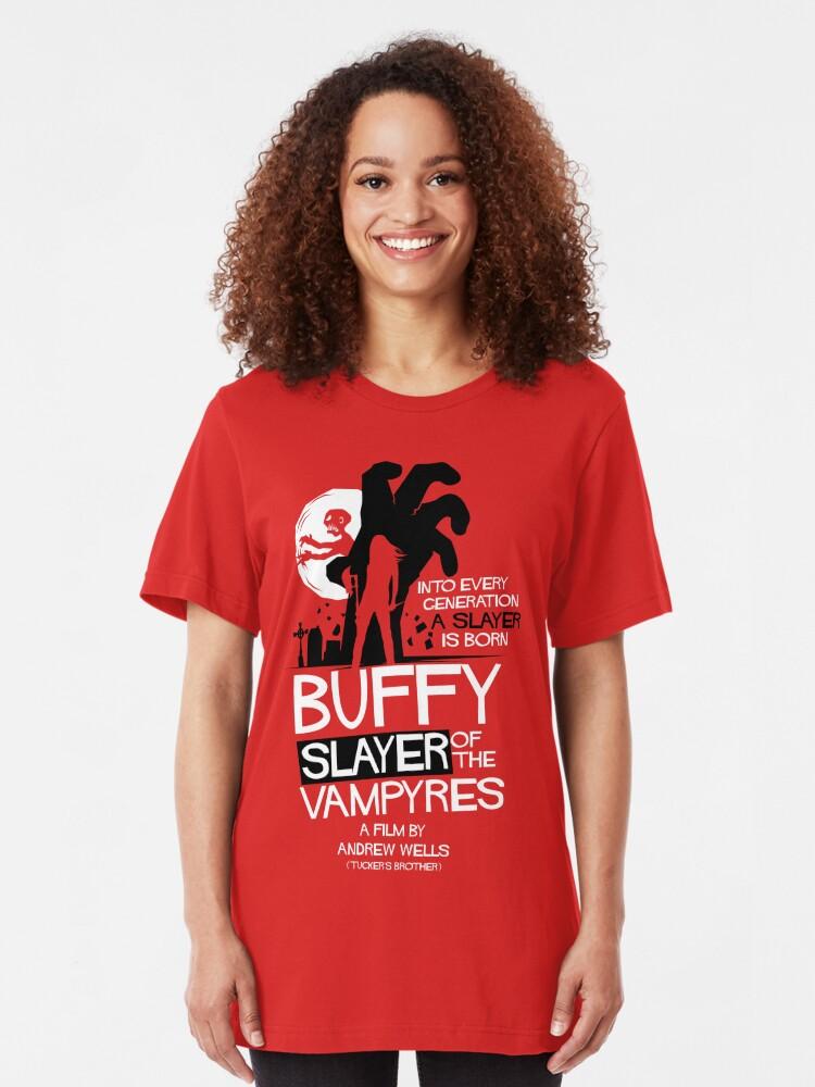Vista alternativa de Camiseta ajustada Asesino de los Vampiros