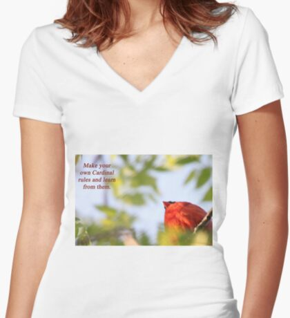 Make your own Cardinal rules and learn from them. Women's Fitted V-Neck T-Shirt