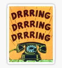 Ringing Telephone Sticker
