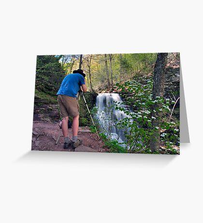 Nature Photographer & Subject Greeting Card