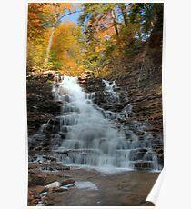 Fall Colors Crowning F. L. Ricketts Falls Poster