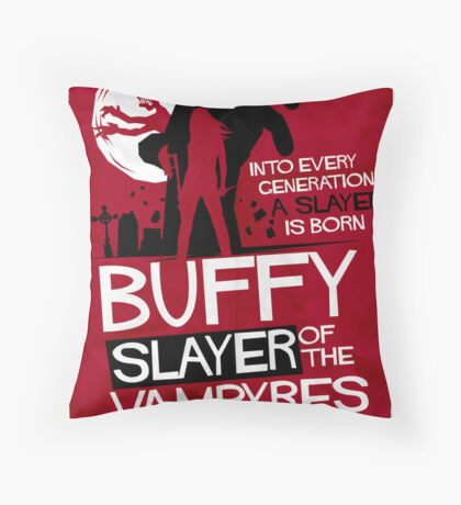 Slayer of the Vampyres Throw Pillow