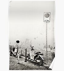 Italy moped Poster