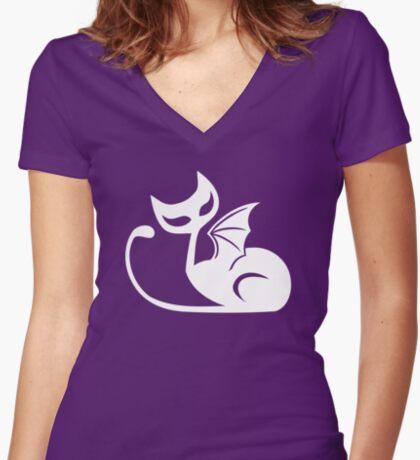 DRAT! #1 White Women's Fitted V-Neck T-Shirt