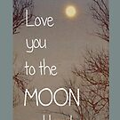 Love you to the moon and back - Iphone Case  by sullat04