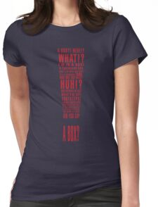 MGS Alert Typography Womens Fitted T-Shirt