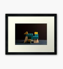 Art is a Game Framed Print