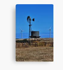 Old & The New - Wind Towers Canvas Print