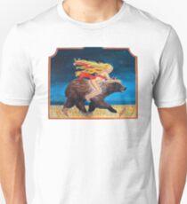 Naked Chick Riding a Bear T-Shirt