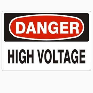 Danger high voltage (White background) by Mudman
