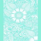 Turquoise Henna Design - Iphone Case  by sullat04
