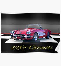 1959 Corvette Roadster Poster