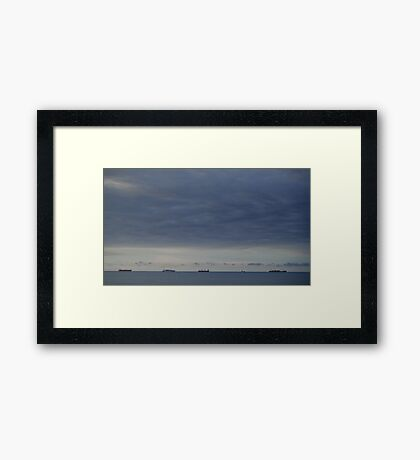 Boats in the Gulf Framed Print