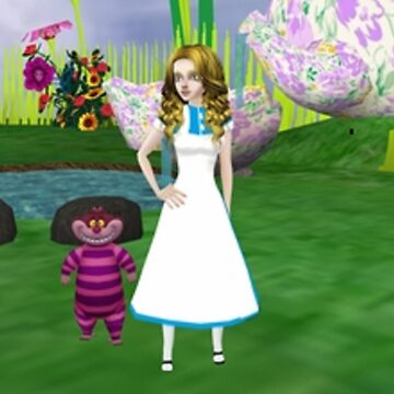 Alice and the Cheshire cat by Godofmischief