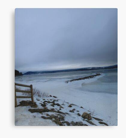 Breakwaters and Fencelines Canvas Print