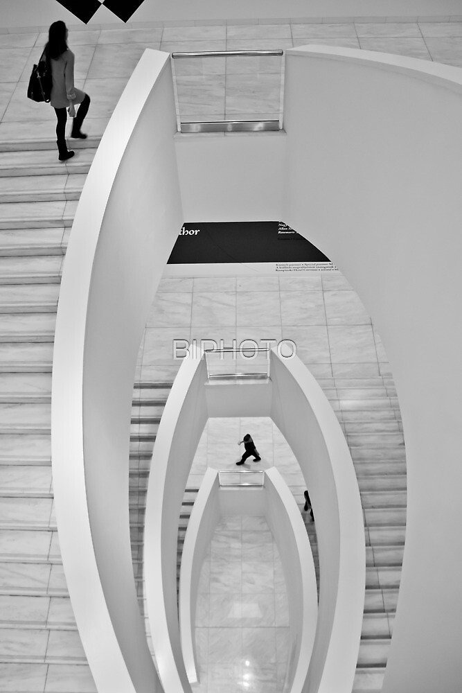 A staircase by BIPHOTO