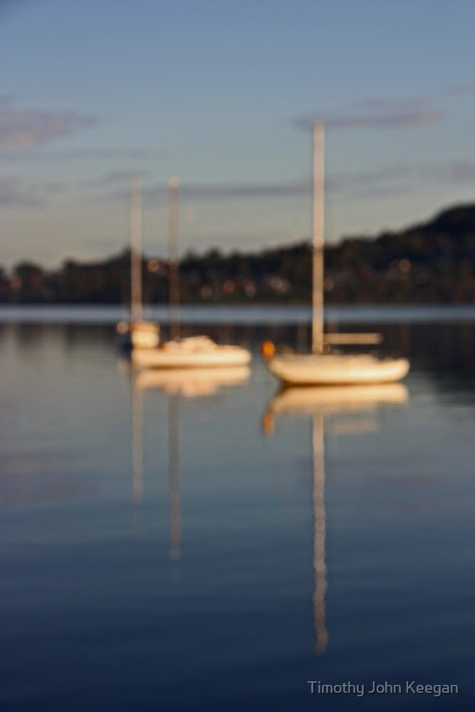 Boat on lake by Timothy John Keegan
