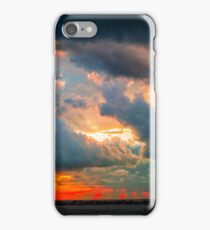 sunset through grey storm clouds  iPhone Case/Skin