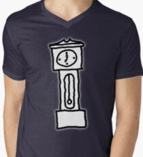 Cartoon Grandfather Clock [Big] Men's V-Neck T-Shirt