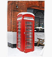 BT Telephone Box in Downe Kent Poster