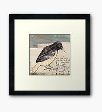 Black Bird Singing Framed Print