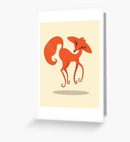 Foxprit Greeting Card