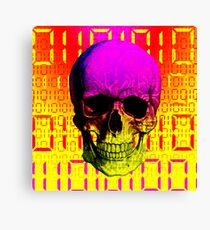 Skull circuit in a digital code. Canvas Print