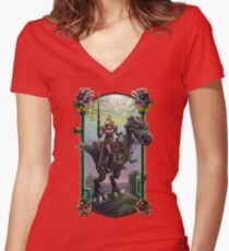 """He Just Might be in Another Castle."" Women's Fitted V-Neck T-Shirt"