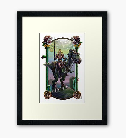 """He Just Might be in Another Castle."" Framed Print"