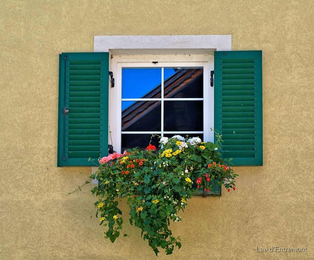 Green Shutters. by Lee d'Entremont
