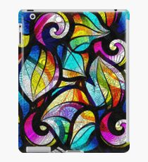 Colorful Random Abstrac Swirls-Stained Glass Look iPad Case/Skin
