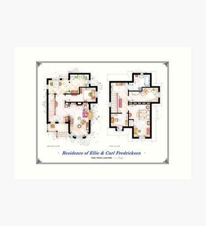 """Floorplan of the House from """"UP"""" Art Print"""