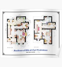 """Floorplan of the House from """"UP"""" Poster"""