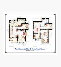 """Floorplan of the House from """"UP"""" Photographic Print"""