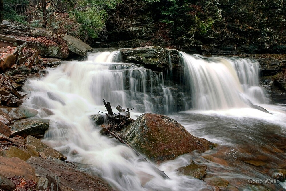 Churning Water Over Cayuga Falls by Gene Walls