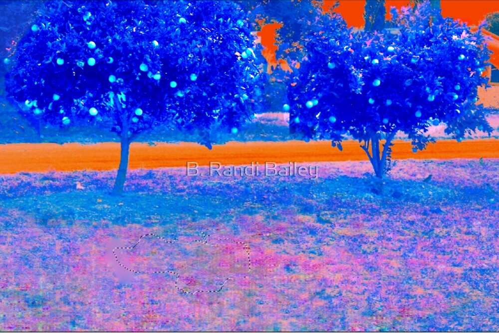 Orange trees in abstract by ♥⊱ B. Randi Bailey