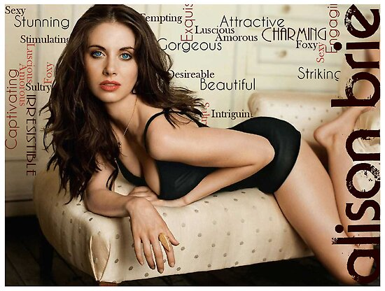 """Alison Brie """"Sexy"""" Typography by MadPatter"""