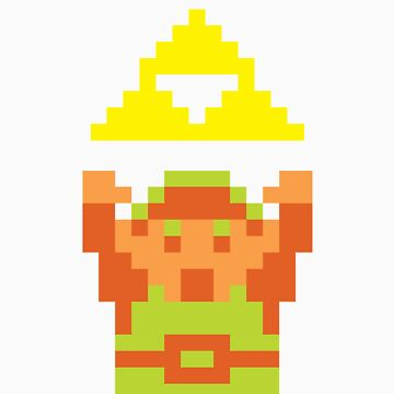 Pixel Link With A Triforce by yanting