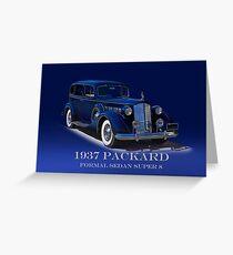 1937 Packard Formal Sedan w/ID Greeting Card